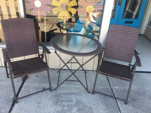 3PC FOLDING OUTDOOR TABLE SET for Sale in York, PA