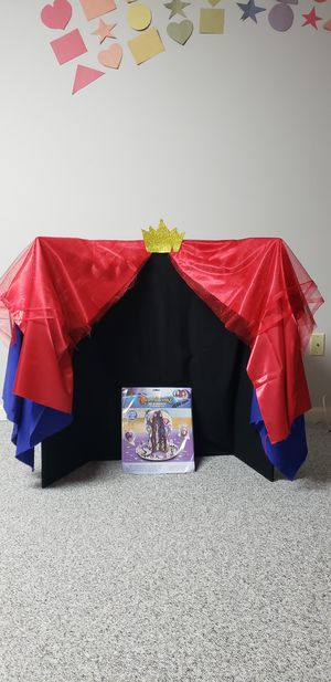 descendants Evie birthday hand make back drop and table decorations. for Sale in Germantown, MD