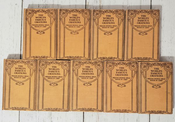 The World's Famous Orations William Jennings Brian 1906 Lot of 9