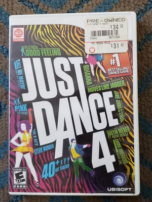 Just Dance 4 (Nintendo Wii, 2012) for Sale in Chambersburg, PA