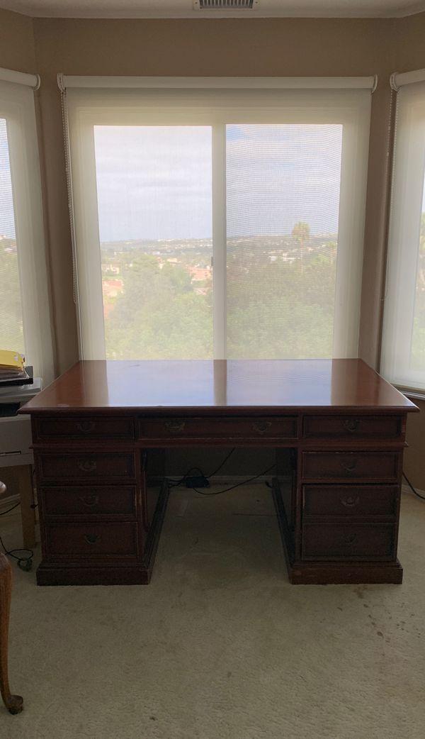 Antique Executive Desk - Classic