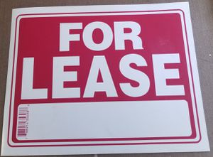 """5 FOR LEASE Signs Residential Commercial 15X12"""" for Sale in Three Rivers, MI"""