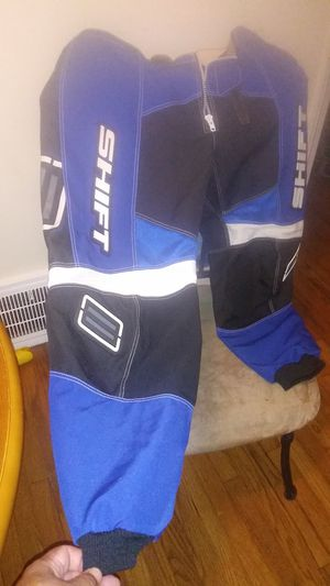 Pair of Shift motorcycle, dirt bike riding pants (royal blue, black,& white) sz 38W 32L for Sale in Cleveland, OH