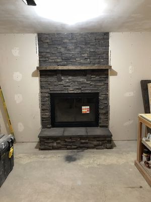 Update your fireplace with stone and a new glass insert for Sale in Cheyenne, WY