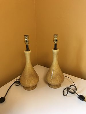 Vintage Drip Glaze Lamps (pair) for Sale in Hillsboro, OR