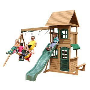 Wooden Cedar Swing Set Outdoor Fun for Kids for Sale in Los Angeles, CA