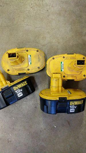 DeWalt 18 volt XRP battery cores for Sale in San Diego, CA