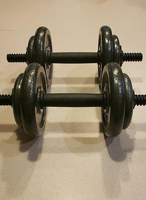 NEW 40lb Adjustable Dumbbell - Cast Iron Pair for Sale in Gilbert, AZ