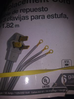 Range Replacement Cord for Sale in Detroit, MI