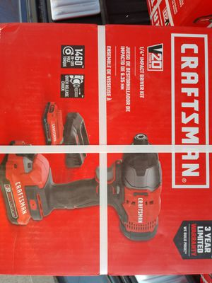 Craftsman drill kit w 2 batteries for Sale in O'Fallon, MO