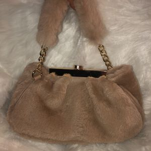 Tan/Beige Colored Fur Handbag for Sale in Newport News, VA