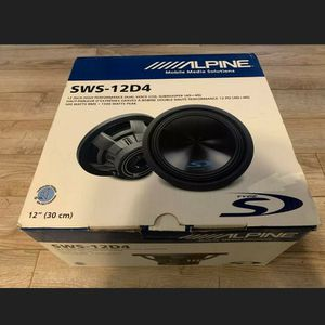 Alpine Sws12d4 Dual 4 Ohm Subwoofer Brand New In Box 1 Only for Sale in Huntington Beach, CA