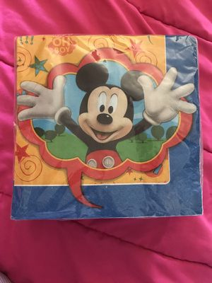 Mickey Mouse dinner napkins for Sale in Hyattsville, MD