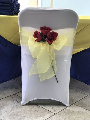 Chair organza bows for Sale in Riverside, CA