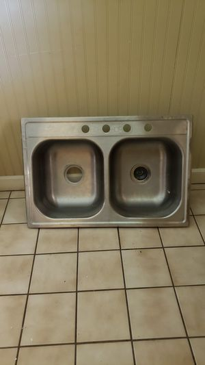 Kitchen sink stainless steel appliances double side for Sale in Las Vegas, NV