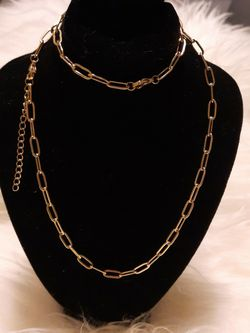 GOLD PLATED necklace & Bracelet for Sale in Georgetown,  TX