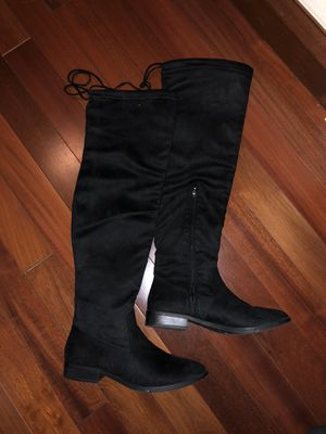 James Adams over the knee boots black for Sale in Mill Hall, PA