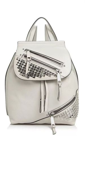 NWT MARC JACOBS Zip Pack Small Stud Backpack SILVER GREY women men $595 for Sale in Garden Grove, CA