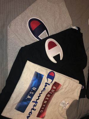 SIZE MEDIUM CHAMPION SHIRTS for Sale in Lakewood, CA