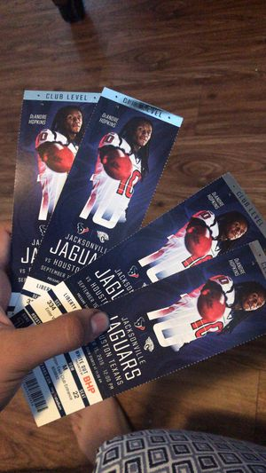 Tickets for today's game best offer takes them for Sale in Baytown, TX