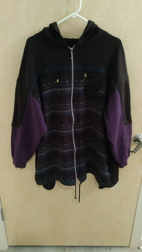 Arizona Jean Company Native Hoodie Black Purple Size L