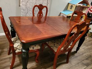 Wooden dinning table and chairs for Sale in Houston, TX