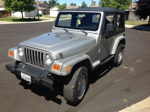 2001 Jeep Clean title runs great all stock Four cylinder with a standard transmission for Sale in Stockton, CA