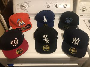 6 Authentic MLB Collection New Era 59Fifty Fitted Caps for $120 for Sale in Bethesda, MD
