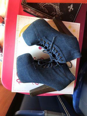 Blue jean heels/wedge for Sale in Mount Juliet, TN