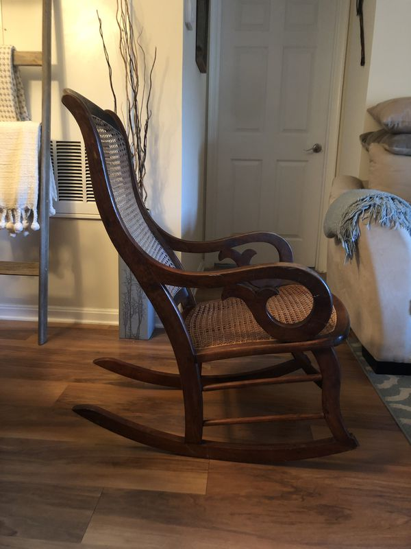 1800s/1900s Cane Rocking Chair