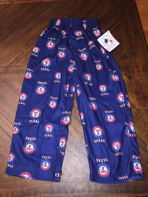 New w/tags Genuine/Authentic Texas Rangers MLB Baseball Sports Team Size Small Kids Pajama Pants. Blue. Red. for Sale in Prospect Heights, IL