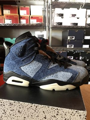Brand new Nike air Jordan 6 retro washed denim premium shoes men's 10 or 15 for Sale in La Mesa, CA