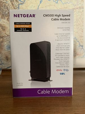 Netgear CM500 Cable Modem for Sale in Federal Way, WA