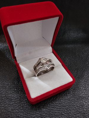1ct diamond wedding ring 14k white gold setting excellent cut. F color. Vvs1 clarity. for Sale in Pomona, CA
