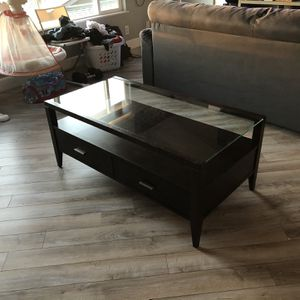 Mahogany Wood & Glass Coffee Table for Sale in National City, CA