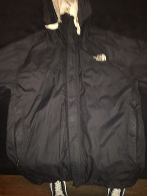 Black north face rain jacket for Sale in San Francisco, CA