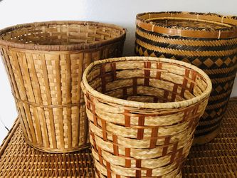 Wicker Boho Style Baskets for Sale in Wilsonville,  OR