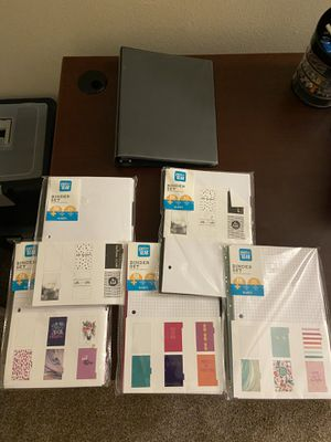 Mini binder with paper and dividers for Sale in Dublin, OH