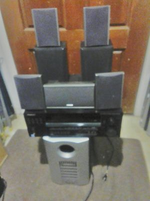 Pioneer VSX-D814-K 7.1 Dolby Surround Home Theater Receiver and Pioneer speakers + Subwoofer for Sale in Glendale, AZ