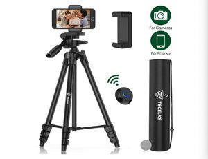 Lightweight Tripod 55-Inch, Travel/Video/Phone/Camera Tripod Stand with Bluetooth Remote, Phone Clip, Carry Bag and Replacement Battery for Sale in Rancho Cucamonga, CA