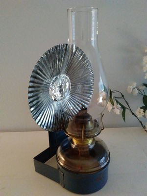 Vintage Eagle Oil Lamp with Bracket and Reflector for Sale in West Springfield, VA