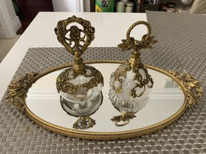 Antique tray and 2 perfume bottles excellent condition for Sale in Hallandale Beach, FL
