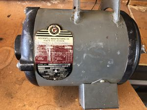 VINTAGE Delta Rockwell Unisaw 3 Phase Motor. 2 HP, 3450 RPM. Model 87-310. Used as table saw. for Sale in Glendale, AZ