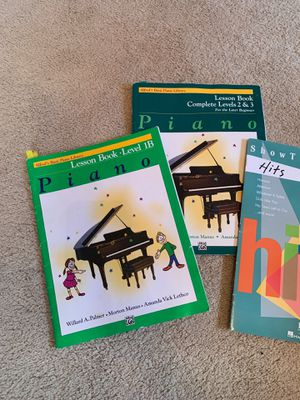 Alfred' Basic Piano lesson books and Hits book for Sale in Chapel Hill, NC