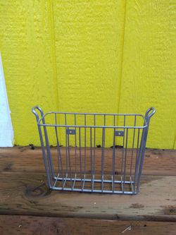 Wall Mounted Magazine Rack Basket Storage Metal Silver for Sale in Tacoma,  WA