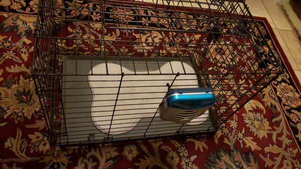 Dog cage medium size 30X18.5X 21H with fan