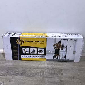Gold's Gym XR 10.9 Power Tower with Push-Up, Pull-Up & Dip Stations for Sale in Rosemead, CA