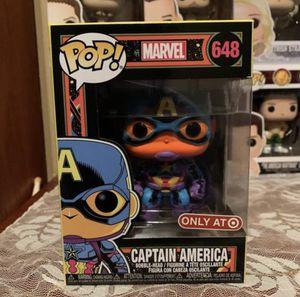 Black Light Captain America Funko Pop for Sale in Wakarusa, KS