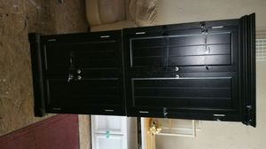 ALL BLACK WOOD CABINET for Sale in St. Louis, MO