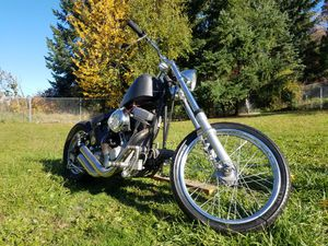Chopper Harley Davidson Black on Black for Sale in Federal Way, WA